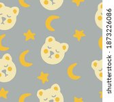 cute bears  stars and moon... | Shutterstock .eps vector #1873226086