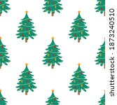 decorated christmas trees... | Shutterstock .eps vector #1873240510