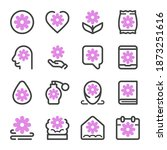 flower icon set vector and... | Shutterstock .eps vector #1873251616