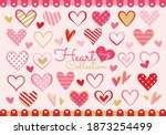 the perfect heart collection... | Shutterstock .eps vector #1873254499