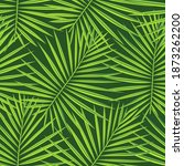 tropical  green repeated... | Shutterstock .eps vector #1873262200