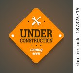under construction with coming... | Shutterstock .eps vector #187326719