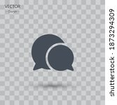 chat bubble icon. vector...