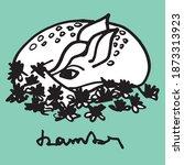 bambi doodle illustration....