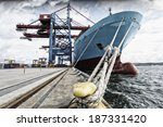 container ship mired in... | Shutterstock . vector #187331420
