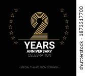2 year anniversary vector icon  ... | Shutterstock .eps vector #1873317700