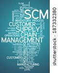 word cloud with supply chain... | Shutterstock . vector #187332380