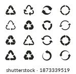 set of recycling icons. recycle ... | Shutterstock .eps vector #1873339519