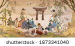 tradition and culture of asia.  ...   Shutterstock .eps vector #1873341040