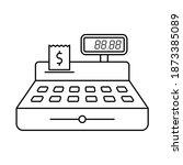 cash register outline vector...