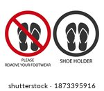 icon prompts to remove footwear ...   Shutterstock .eps vector #1873395916