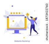 man evaluating website with...   Shutterstock .eps vector #1873422760