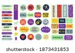 calendar stickers. cartoon... | Shutterstock .eps vector #1873431853
