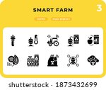smart farm glyph icons pack for ...