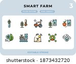 smart farm filled icons pack...