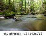 Water Rushing Around Boulders...