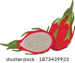 tropical fruits for healthy... | Shutterstock .eps vector #1873439923