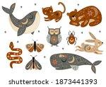 set of isolated celestial... | Shutterstock .eps vector #1873441393