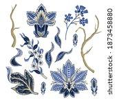 ethnic elements of indian...   Shutterstock .eps vector #1873458880