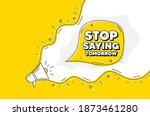 stop saying tomorrow motivation ...   Shutterstock .eps vector #1873461280