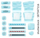 cartoon ice and glass icons for ...