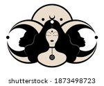 wiccan woman icon  triple... | Shutterstock .eps vector #1873498723
