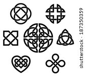 variety of celtic knots. set of ... | Shutterstock .eps vector #187350359