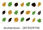 a set of green various leaves.... | Shutterstock .eps vector #1873529740
