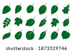 a set of green various leaves.... | Shutterstock .eps vector #1873529746