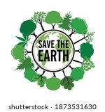 save the earth icon and emblem. ...   Shutterstock .eps vector #1873531630