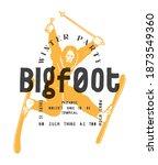 Bigfoot Ski Typography Print....