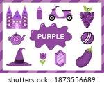 purple. educational worksheet... | Shutterstock .eps vector #1873556689