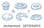 set of sweet bakery goods as...   Shutterstock .eps vector #1873556923