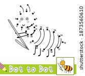 dot to dot numbers game with... | Shutterstock .eps vector #1873560610