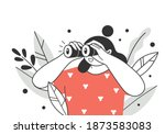 search concept. the woman looks ...   Shutterstock .eps vector #1873583083