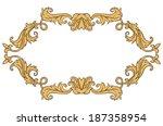 vintage ornament frame in retro ... | Shutterstock . vector #187358954