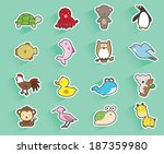 collection of animals | Shutterstock .eps vector #187359980