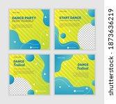 dance party social media posts... | Shutterstock .eps vector #1873636219