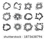 set of black line sound wave... | Shutterstock .eps vector #1873638796
