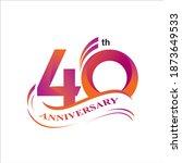 40th anniversary logo vector...   Shutterstock .eps vector #1873649533
