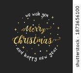 merry christmas and happy new... | Shutterstock .eps vector #1873656100