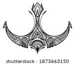maori ethnic style for tribal... | Shutterstock .eps vector #1873663150