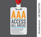flat design access all area...   Shutterstock .eps vector #1873665700