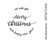 merry christmas and happy new... | Shutterstock .eps vector #1873671520
