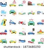car accident isolated that... | Shutterstock .eps vector #1873680250