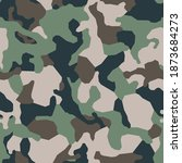 green classical camouflage... | Shutterstock .eps vector #1873684273