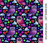 Seamless Pattern With A Cute...