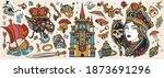 fairy tales old school tattoo... | Shutterstock .eps vector #1873691296