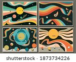 psychedelic space abstract...   Shutterstock .eps vector #1873734226
