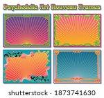 psychedelic art nouveau frames  ...   Shutterstock .eps vector #1873741630